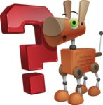 Old School Robot Dog Cartoon Vector Character AKA Robo Doug - Question