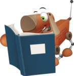 Old School Robot Dog Cartoon Vector Character AKA Robo Doug - Books