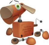 Old School Robot Dog Cartoon Vector Character AKA Robo Doug - Under Construction 2