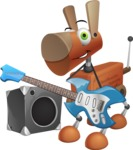 Old School Robot Dog Cartoon Vector Character AKA Robo Doug - Music