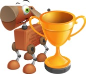 Old School Robot Dog Cartoon Vector Character AKA Robo Doug - Cup