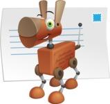 Old School Robot Dog Cartoon Vector Character AKA Robo Doug - Mail