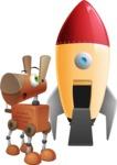 Old School Robot Dog Cartoon Vector Character AKA Robo Doug - Rocket