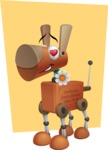 Old School Robot Dog Cartoon Vector Character AKA Robo Doug - Shape6