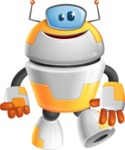 Cool Robot from Future Cartoon Vector Character AKA Spud - Normal