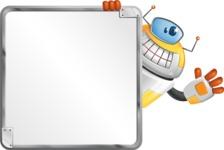 Cool Robot from Future Cartoon Vector Character AKA Spud - Presentations 2