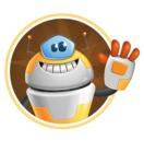 Cool Robot from Future Cartoon Vector Character AKA Spud - Shape2