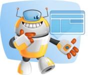 Cool Robot from Future Cartoon Vector Character AKA Spud - Shape5