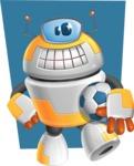 Cool Robot from Future Cartoon Vector Character AKA Spud - Shape6