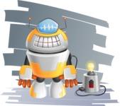 Cool Robot from Future Cartoon Vector Character AKA Spud - Shape7