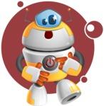 Cool Robot from Future Cartoon Vector Character AKA Spud - Shape8