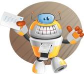 Cool Robot from Future Cartoon Vector Character AKA Spud - Shape9