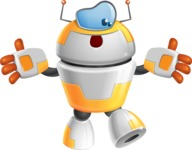 Cool Robot from Future Cartoon Vector Character AKA Spud - Lost
