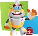 Cool Robot from Future Cartoon Vector Character AKA Spud - Shape10