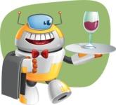 Cool Robot from Future Cartoon Vector Character AKA Spud - Shape11