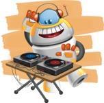 Cool Robot from Future Cartoon Vector Character AKA Spud - Shape12