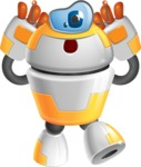 Cool Robot from Future Cartoon Vector Character AKA Spud - Confused