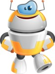 Cool Robot from Future Cartoon Vector Character AKA Spud - Patient