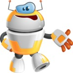 Cool Robot from Future Cartoon Vector Character AKA Spud - Bored