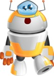 Cool Robot from Future Cartoon Vector Character AKA Spud - Sad