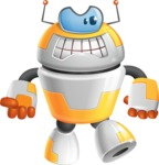 Cool Robot from Future Cartoon Vector Character AKA Spud - Angry