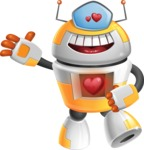 Cool Robot from Future Cartoon Vector Character AKA Spud - Love
