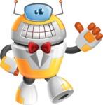 Cool Robot from Future Cartoon Vector Character AKA Spud - Gentleman