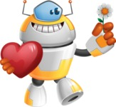 Cool Robot from Future Cartoon Vector Character AKA Spud - Love 2