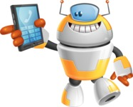 Cool Robot from Future Cartoon Vector Character AKA Spud - Phone