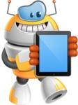 Cool Robot from Future Cartoon Vector Character AKA Spud - iPad 1