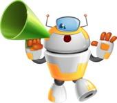 Cool Robot from Future Cartoon Vector Character AKA Spud - Loudspeaker