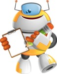 Cool Robot from Future Cartoon Vector Character AKA Spud - Notepad