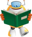 Cool Robot from Future Cartoon Vector Character AKA Spud - Book