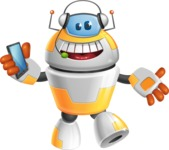 Cool Robot from Future Cartoon Vector Character AKA Spud - Support