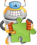 Cool Robot from Future Cartoon Vector Character AKA Spud - Puzle