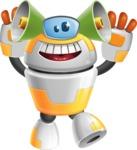 Cool Robot from Future Cartoon Vector Character AKA Spud - Listen