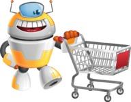 Cool Robot from Future Cartoon Vector Character AKA Spud - Cart