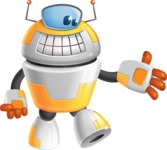 Cool Robot from Future Cartoon Vector Character AKA Spud - Show