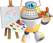 Cool Robot from Future Cartoon Vector Character AKA Spud - Artist