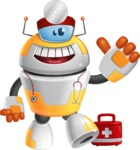 Cool Robot from Future Cartoon Vector Character AKA Spud - Doctor