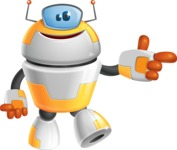 Cool Robot from Future Cartoon Vector Character AKA Spud - Point