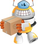 Cool Robot from Future Cartoon Vector Character AKA Spud - Delivery 1