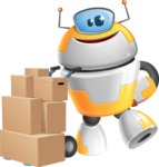 Cool Robot from Future Cartoon Vector Character AKA Spud - Delivery 2