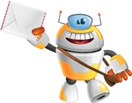 Cool Robot from Future Cartoon Vector Character AKA Spud - Delivery 3