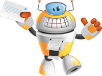 Cool Robot from Future Cartoon Vector Character AKA Spud - Printer