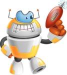 Cool Robot from Future Cartoon Vector Character AKA Spud - Gun 1