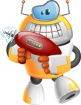 Cool Robot from Future Cartoon Vector Character AKA Spud - Gun 2