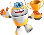 Cool Robot from Future Cartoon Vector Character AKA Spud - Winner