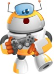 Cool Robot from Future Cartoon Vector Character AKA Spud - Game