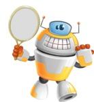 Cool Robot from Future Cartoon Vector Character AKA Spud - Tennis 2